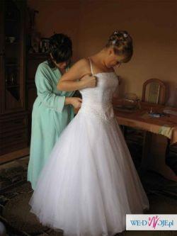 Sprzedam piękną suknię ślubną wraz z welonem