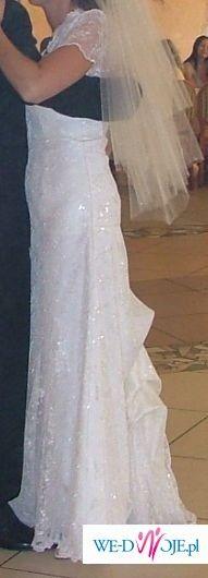 sprzedam piękną suknie ślubną z portugalskiej koronki roz.38/40 wzrost 170