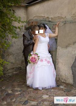sprzedam piękną suknię ślubną z tafty