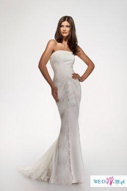 Sprzedam piękną suknię ślubną z trenem firmy Gala