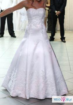 Sprzedam piękną suknię ślubną z welonem i bolerkiem