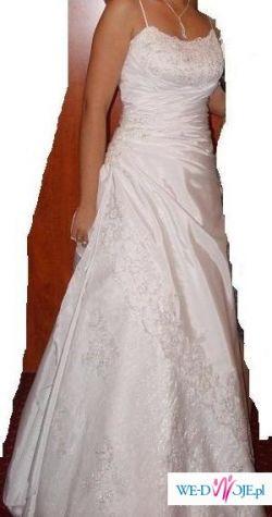 sprzedam piękną suknię ,szytą w profesjonalnej  pracowni sukien ślubnych