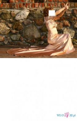 Sprzedam piękną suknię wieczorową z podpinanym trenem