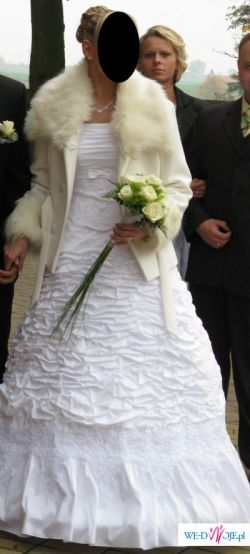 Sprzedam płaszczyk do sukni ślubnej rozm.38:)