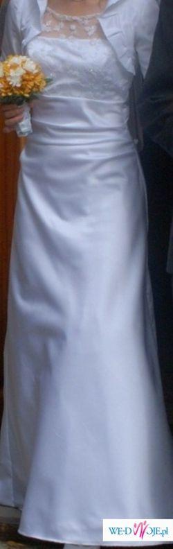 Sprzedam prostą, przepiękną suknie ślubną