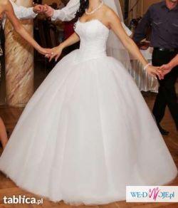 """Sprzedam przepiękną białą suknię, model """"Nowa Giovani"""" by Viola Piekut."""