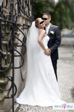 Sprzedam przepiękną białą suknię renomowanej francuskiej firmy Herm's –model Blu