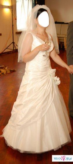 Sprzedam przepiękną sukienkę ślubną w kolorze ECRY