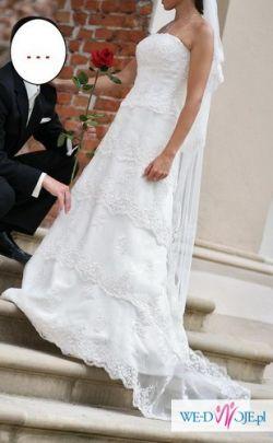 SPRZEDAM PRZEPIĘKNĄ SUKNIĘ ANNAIS BRIDAL CAMILA IVORY + WELON GRATIS