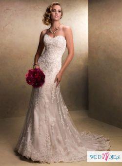 Sprzedam przepiękną suknię Maggie Sottero Emma (2 welony GRATIS)
