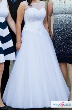 Sprzedam przepiękną suknię ślubną ,,Alexia'' -biała, rozmiar 38/40
