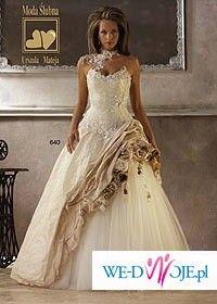 Sprzedam przepiękną suknię ślubną ecru/cappuccino