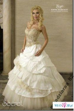 Sprzedam Przepiękną Suknie Ślubną Emmi Mariage model Secret