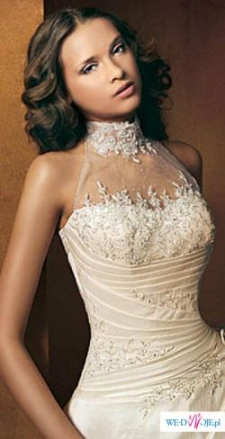 Sprzedam przepiękną suknię ślubną eqru Radmila z dodatkami