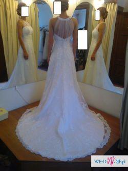 Sprzedam PRZEPIĘKNA suknię ślubną - Herms - Kolio
