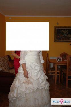 sprzedam przepiekną suknie slubną jasne ecru