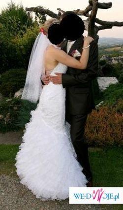Sprzedam przepiękną suknię ślubną Kareen 36/38 Tanio!! +GATISY