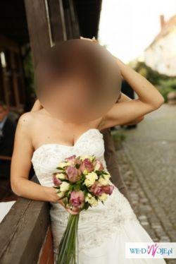 Sprzedam przepiękną suknię ślubną projekty Justin Aleksander r. 38 POLECAM !!