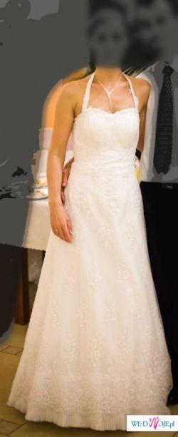 Sprzedam przepiękną suknię ślubną rozm. 36-38 + bolerko