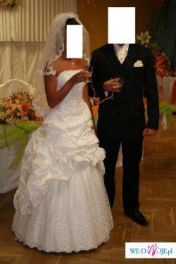 Sprzedam przepiękną suknie ślubną wraz z welonem!!!!!!