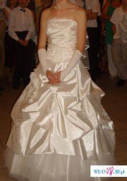 sprzedam przepiękną suknię slubna z dodatkami