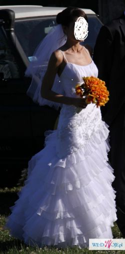 Sprzedam przepiękną suknię w hiszpańskim stylu z salonu Lisa Ferrera - Demetrios
