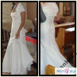 Sprzedam prześliczną sukienkę slubną+ welon gratis