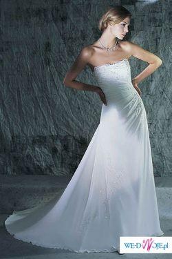 Sprzedam prześliczną suknię koloru białego+ welon + ozdobę do włosów