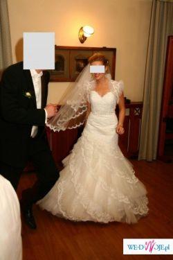 Sprzedam prześliczną suknię ślubną z brytyjskiej kolekcji Jasmine z bolerkiem