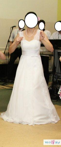 Sprzedam prześliczną, zwiewną i elegancką suknię ślubną