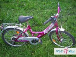 Sprzedam Rowerek dla dziewczynki 5, 6, 7 latki, Rower