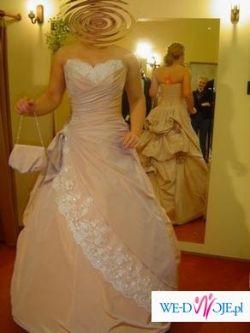 Sprzedam różową suknię LEHAR Isabel de Mestre - idealna do cywilnego