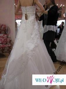 Sprzedam ślczną suknię ślubną Herms Erasto welon Swarowskiego GRATIS!!!