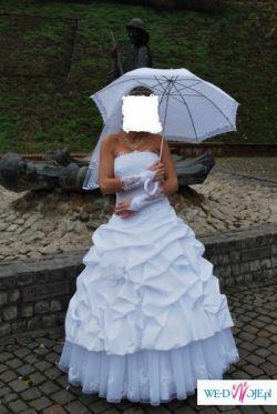 sprzedam śliczną białą suknie ślubna