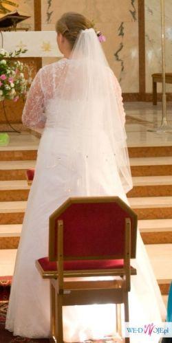"""Sprzedam śliczną białą suknię ślubną Fimy """"IMPRESSJA""""."""