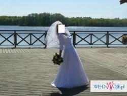 Sprzedam Śliczną Białą Suknię ślubną - Tanio i Pilnie