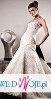 Sprzedam śliczną koronkową suknię ślubną z salonu Boston w Krakowie - Model Funy
