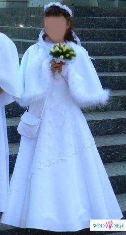 Sprzedam śliczną niepowtarzalą sukienkę komunijną