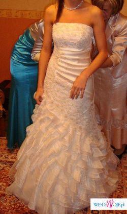 sprzedam śliczną, niepowtrzalną suknię ślubną
