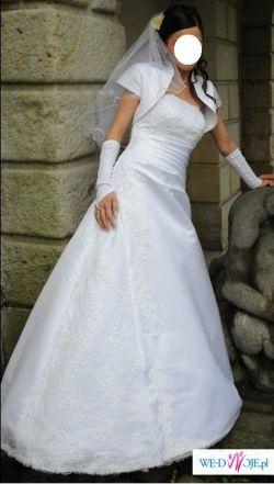 Sprzedam śliczną skromną suknię ślubną!