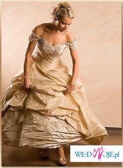 Sprzedam śliczną suknia w kolorze cappucino - ANNA
