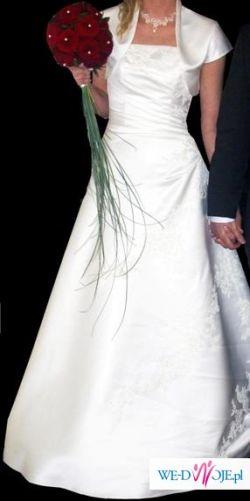 Sprzedam śliczną suknie Ecru z salonu Carmen