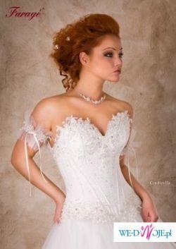 Sprzedam śliczną suknię firmy Farage model CINDERELLA