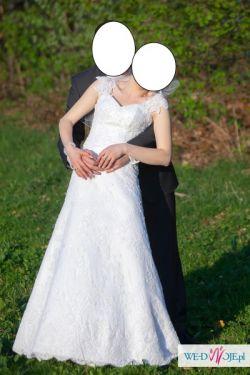 Sprzedam śliczną suknię KORONKA