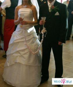 Sprzedam śliczną suknię ślubną, 164 cm, 36/38,
