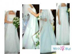 Sprzedam śliczną suknię ślubną 36-40