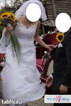 Sprzedam śliczną suknię ślubną 500 zł