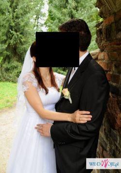 Sprzedam śliczną suknie ślubną biała 38/170