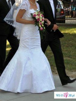 Sprzedam śliczną suknię ślubną białą