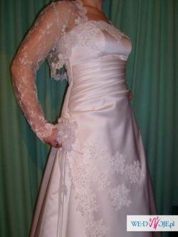 Sprzedam Śliczną Suknię Ślubną + dodatki gratis (Roz 36/38)